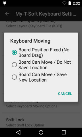 My-T-Soft Keyboard Settings