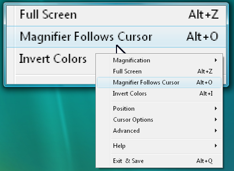 how to change page magnifier