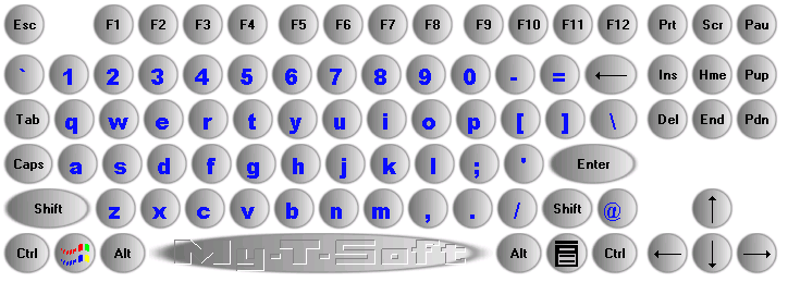 My-T-Soft 104 on-screen keyboard with Edit using Customized Painting