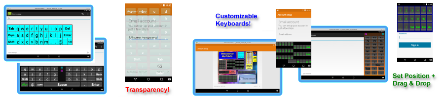 On-screen Keyboard and TouchScreen User Interfaces