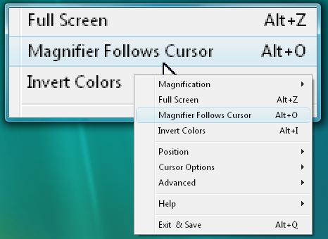 The Magnifier Follows Cursor