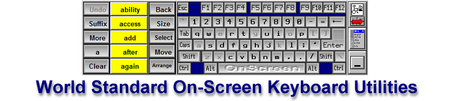 Onscreen with CrossScanner - Onscreen Keyboard with Switch